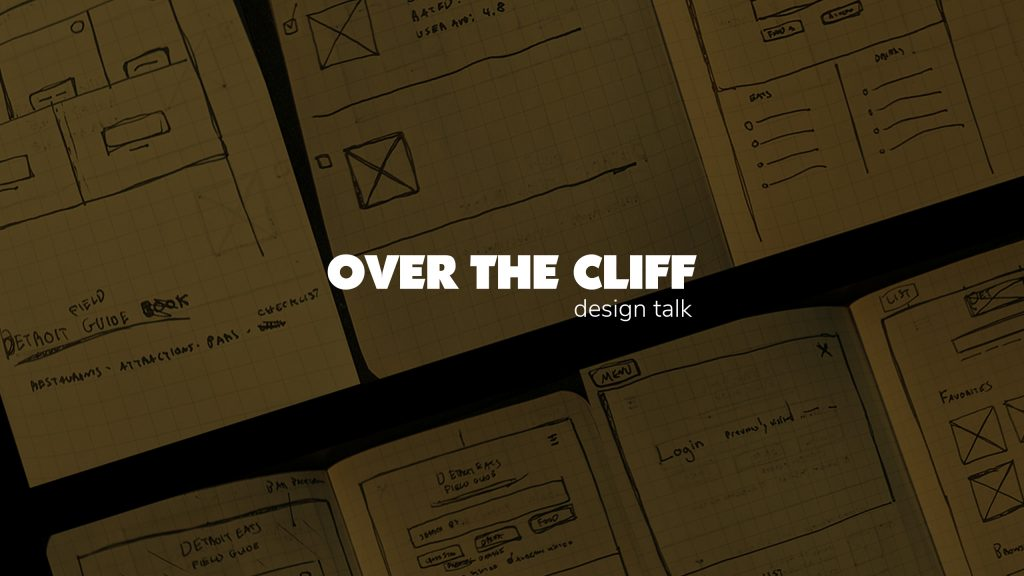 Youtube Channel cover art for Over The Cliff Design Talk