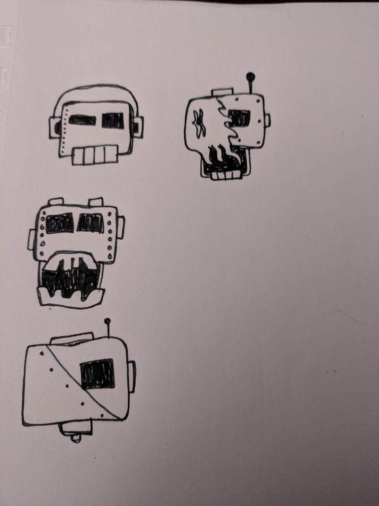 skullbot sketches